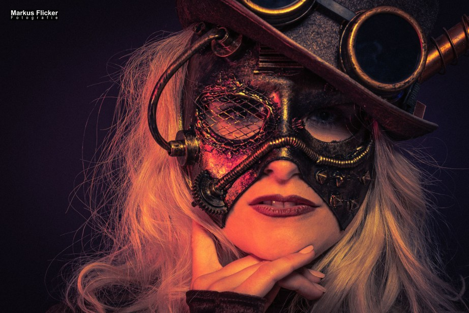Steampunk Portrait im Fotostudio mit Model Sandra