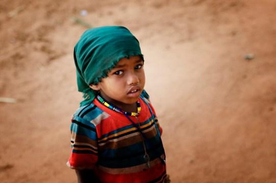 Ein kleiner Junge in der Provinz Nord-Shoa.