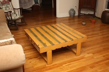 The 'Scrapheap' Table I converted a shipping pallet into