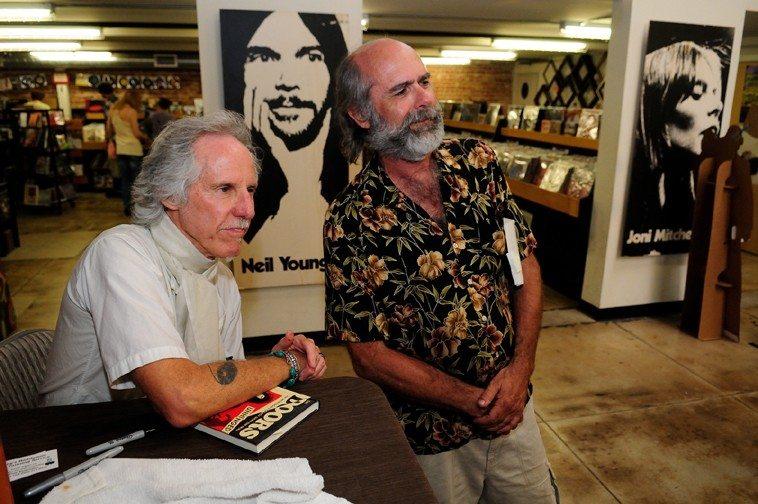 Fred Voss with John Densmore of the DOORS -- June 1, 2013 @ Fingerprints Music, Long Beach, California