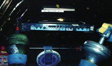 Mobile Saxophone & Mute Unit -- April 8, 1997, Albuquerque -- photo by Mark Weber