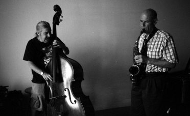 Ed Schuller and Richard Tabnik -- August 24, 2o12 -- photo by Mark Weber