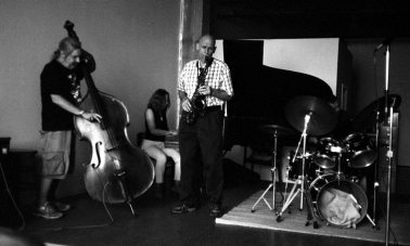 The Connie Crothers Quartet with Ed Schuller subbing for Ken Filiano -- August 24, 2o12 -- photo by Mark Weber