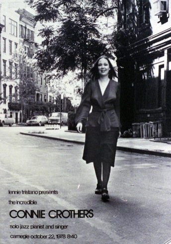 Connie strolling in Greenwich Village -- poster from the collection of Richard Tabnik