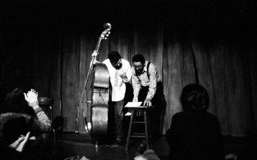 Charlie Haden and Bobby Bradford -- February 17, 1980 -- Century City Playhouse, Los Angeles -- photo by Mark Weber
