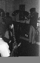 Here's evidence of John Carter holding soprano saxophone -- November 28, 1976 -- he was to put is aside not long after this to concentrate solely on clarinet -- Little Big Horn -- photo by Mark Weber (sorry for the grainy shot, I bought some super-cheap US Army surplus film and I hadn't realized it was crap, yet)