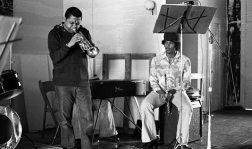 Bobby Bradford and James Newton -- Little Big Horn, Pasadena, California -- September 12, 1976 -- photo by Mark Weber