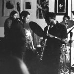 Glenn Ferris, trombone; Richard Rehwald, bass; Bobby Bradford, cornet; John Goldsmith, drums; John Carter, soprano -- September 12, 1976 -- Little Big Horn -- photo by Mark Weber