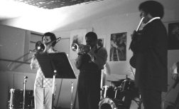 Bobby Bradford Extet -- October 3, 1976 -- Little Big Horn -- Glenn Ferris, BB, James Newton -- photo by Mark Weber
