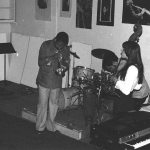 Bobby Bradford, cornet; Diamanda Galas, voice; Roberto Miranda, bass -- October 3, 1976 -- Little Big Horn, Pasadena -- photo by Mark Weber