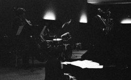 Benny Golson in Toledo, Ohio -- November 6, 1988 -- with Larry Fuller Trio: Larry Fuller, piano; Jeff Halsey, bass; Randy Gellespie, drums -- photo by Mark Weber