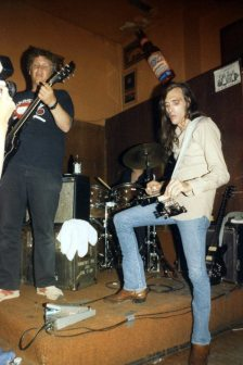 Fish N Chips -- Barry Melton and John Cippolina -- June 27, 1986 at The Saloon, Grant Street, North Beach, San Francisco -- photo by Mark Weber -- the others in this band this night were Spencer Dryden, drums; and Peter Albin, bass