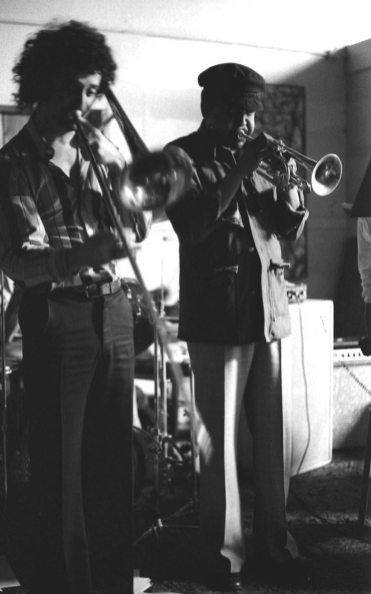 Glenn Ferris and Bobby Bradford -- Late 1976 -- photo by Mark Weber