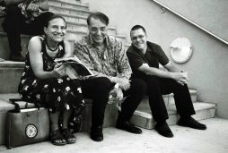"""Janet & guitarist Michael Anthony & tenor man Lee Taylor -- June 5, 2010 -- before the concert at Albuquerque Art Museum of Stan Kenton's incredible """"Cuban Fire"""" revisited by Albuquerque Jazz Orchestra under the direction of Bobby Shew -- photo by Mark Weber"""