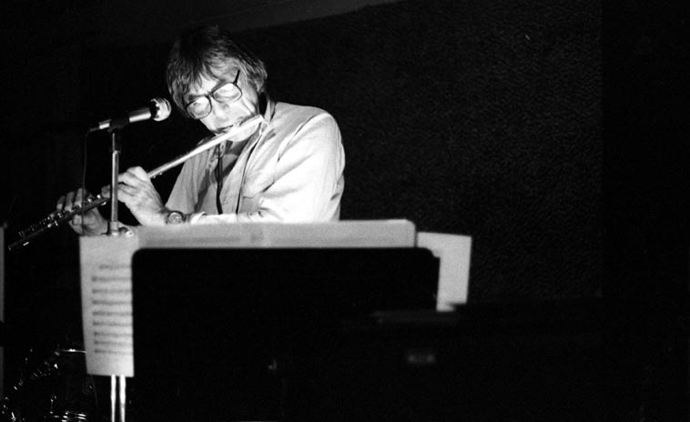 Bud Shank -- January 18, 1981 -- Gilberto's, on Rt.66 in Cucamonga, California (about an hour east of Los Angeles) -- photo by Mark Weber