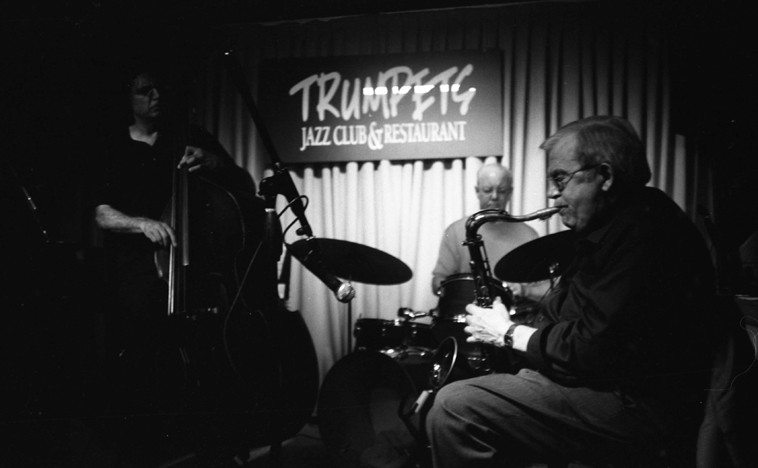 Ted Brown Quartet -- August 6, 2o11 -- New Jersey -- Don Messina, bass; Bill Chattin, drums; Jon Easton, piano -- photo by Mark Weber