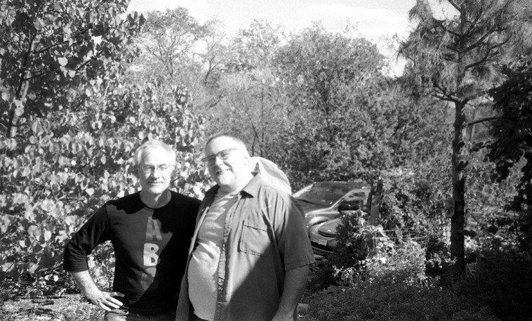Dave Wayne & Michael Vlatkovich -- September 22, 2o12 -- Photo by Mark Weber