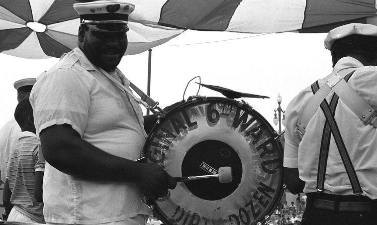Original 6th Ward Dirty Dozen Brass Band ---- New Orleans ---- July 4, 1982 ---- photo by Mark Weber