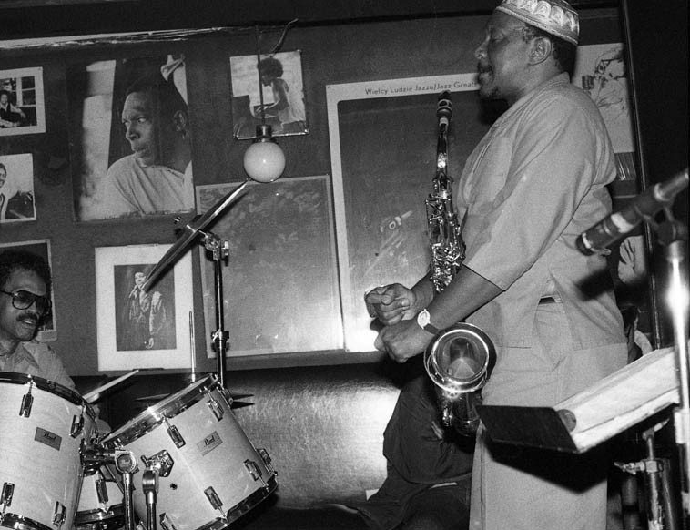 Dannie Richmond & George Adams -- Village Vanguard NYC -- March 7 1987 -- photo by Mark Weber (this is the shot where I used the flash)