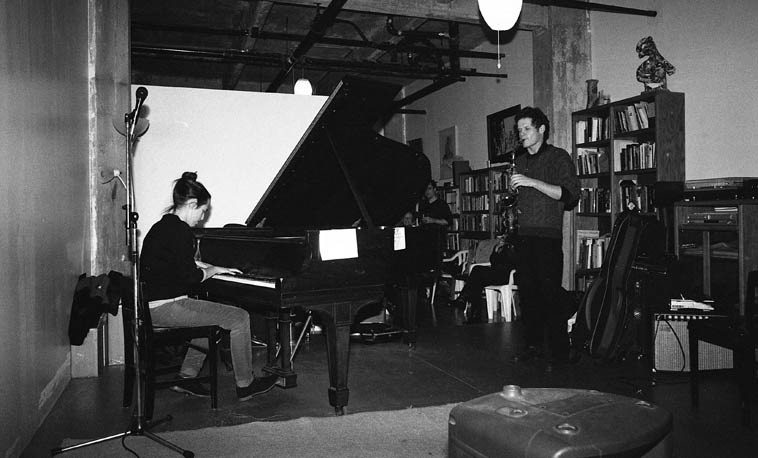 Mara Rosenbloom (another pianist studying with Connie) and Nick Lyons, post-graduate work --  November 16, 2o14 -- photo by Mark Weber