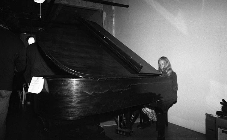 Kazzrie Jaxen playing Connie's piano -- November 16, 2o14 -- photo by Mark Weber