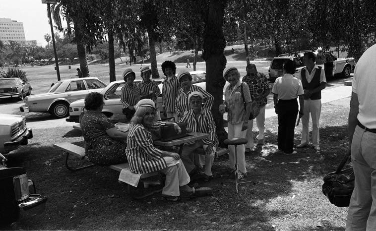 Peggy Gilbert & The Dixie Belles ---- MacArthur Park, Los Angeles -- August 22, 1982 -- photo by Mark Weber