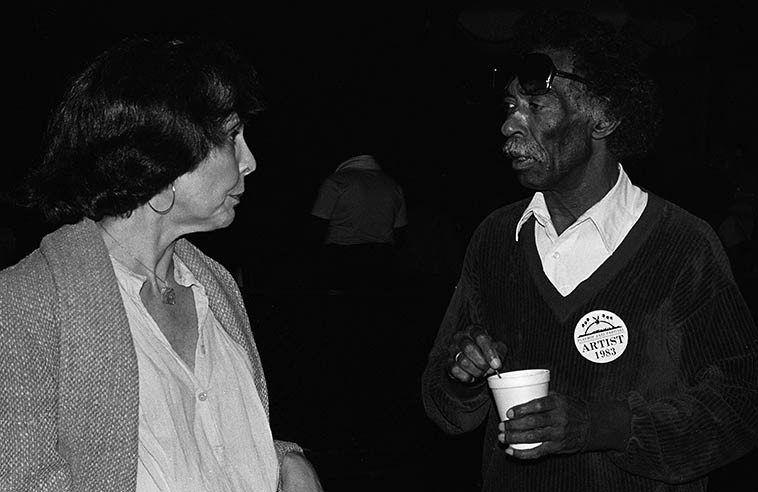 Patricia Willard & Gerald Wilson -- June 18, 1983 Hollywood Bowl -- photo by Mark Weber --  Patricia is a jazz historian based in Los Angeles