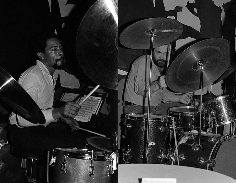 Carl Burnett, he of great spirit, with the Art Pepper Quartet at Donte's -- photo by Mark Weber January 1979 | Nick Ceroli zeroing in ---- February 6, 1977 at Donte's ---- photo by Mark Weber