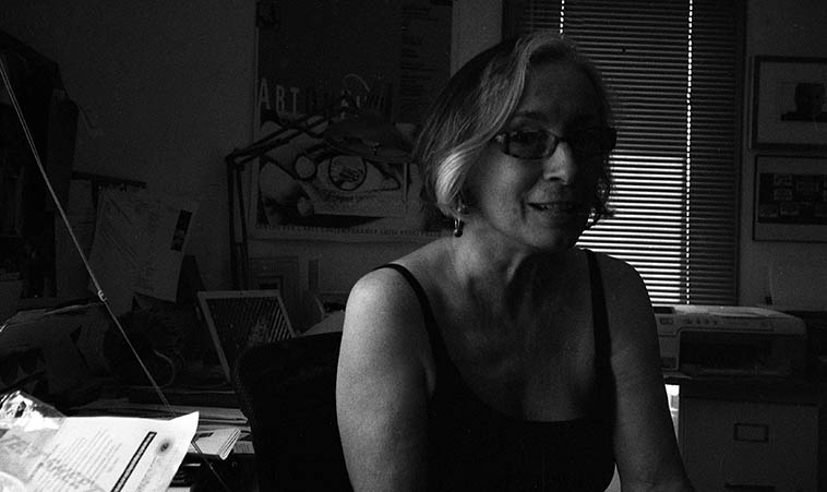 The filmmaker Mary Lance in her home office at New Deal Films-- Corrales, New Mexico -- July 23, 2o11 -- photo by Mark Weber -- You've seen Mary's films on PBS, her latest BLUE ALCHEMY: STORIES OF INDIGO (2o11), and AGNES MARTIN (2002), and DIEGO RIVERA I SEE WHAT I PAINT (1989 co-directed with Eric Breitbart), among others, and also if you drop by the theater at Albuquerque Museum of Art, those two short films on the 400-year history of Albuquerque were made by Mary . . . . . .