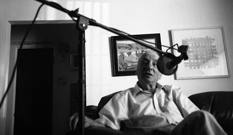 Dick Hyman at Studio 725 -- we had a three hour talk about music of which I intend to air someday on the New Mexico airwaves via the exigencies of KUNM -- photo by Mark Weber -- September 20, 2o10 Albuquerque