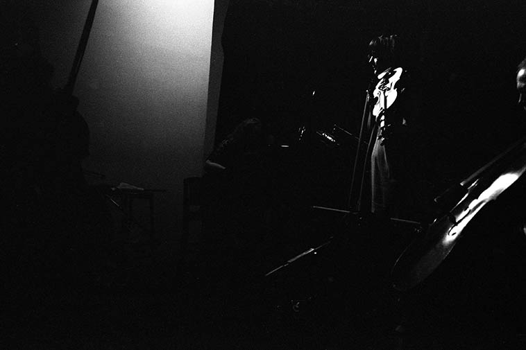 Eva Lindal, violin, with Connie Crothers, piano, and Tomas Ulrich, cello -- August 22, 2o14 NYC -- photo by Mark Weber