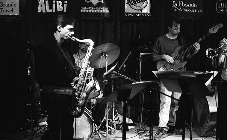 Kanoa Kaluhiwa Quintet -- December 11, 1995 -- photo by Mark Weber