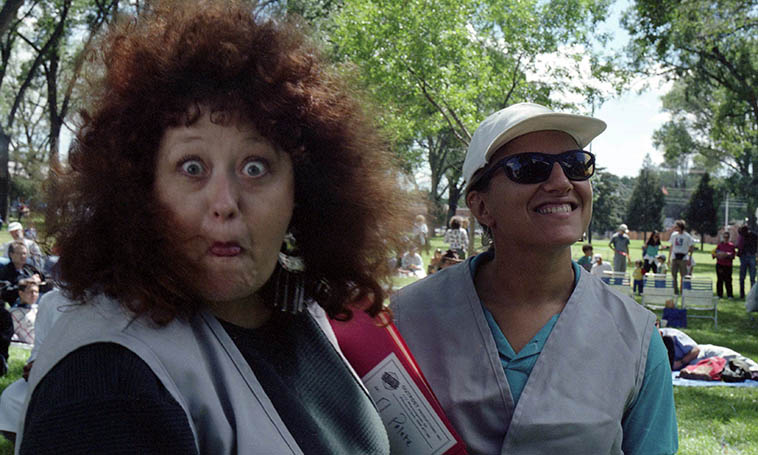 Patti Littlefield & Janet Simon -- Bataan Park Festival -- September 15, 1996 -- photo by Mark Weber