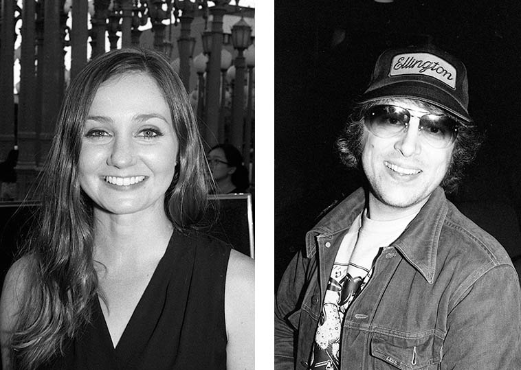 Tina Raymond (August 14, 2o15) and Vinny Golia (February 17, 1980) – — photos by Mark Weber