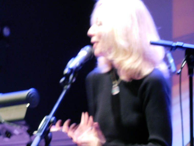 Kazzrie in soft focus -- November 13, 2o16 -- Roulette, Brooklyn -- photo by Mark Weber