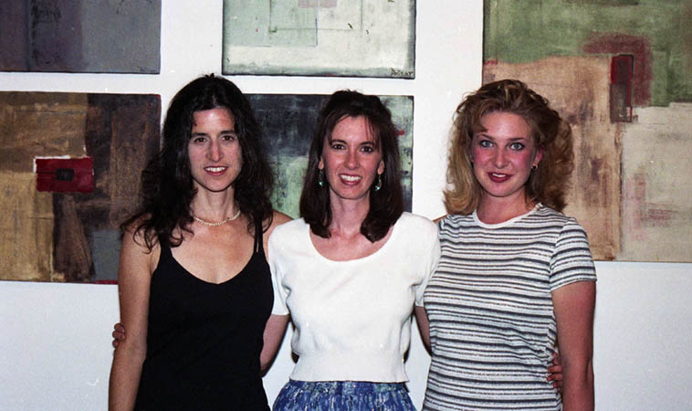 "These ladies were the core of my Mark Weber Poetry Band for several years back in the 90s -- we made 3 cds ------- That's Alicia Ultan(viola), Lisa Polisar(flute), and Courtney Smith(Celtic harp) -- June 5, 1998 Albuquerque ----- I introduced them to each other, and then, later they went on without me, the bums! (I was thinking along the lines of Debussy's ""Sonata for Flute, Viola, and Harp"" when I asked them to be my backing band) what a great improvising trio they were, too! (Connie Crothers loved those records) -- photo by Mark Weber ----- Lisa, we're going to miss you in L.A. in February! (we hoped she'd be available for a chamber ensemble thing Michael Vlatkovich has composed for my book NIGHT RIDERS) but, Lisa now lives in Oakland and is in graduate school, and she is now Lisa Towles (in case you need an ace flute player)"