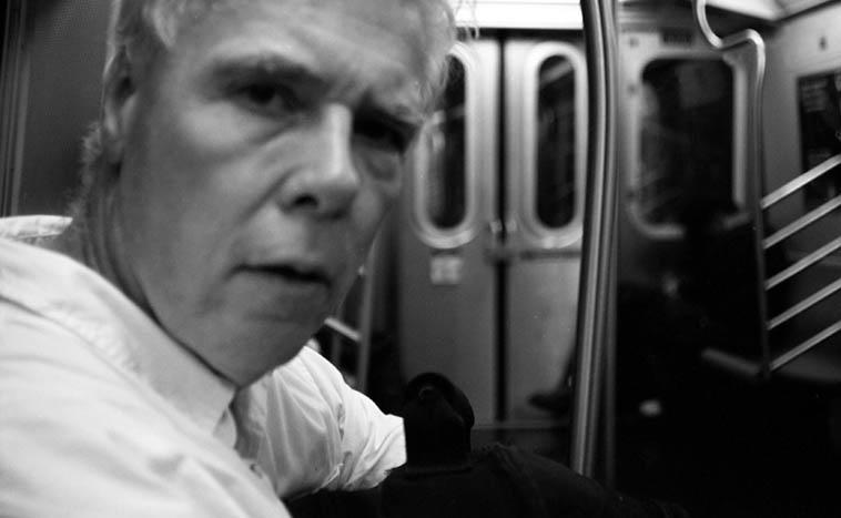 Clarinet genius Bill Payne on the New York subway -- September 17, 2009 -- photo by Mark Weber