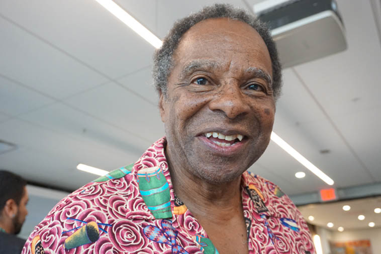 "Putney Thomas used to alternate Wednesday nights on the blues show with Dave Denny (RIP) remember him? Dave loved the music so much he forged forever in my mind that ""blues"" is pronounced with two syllables ---- Bing bang boom, blues up and blues down, blues goes around, and that's Putney the Exuberant – photo by Mark Weber"