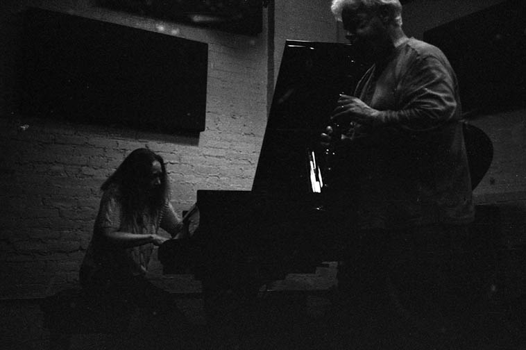 Connie Crothers in duet with Bill Payne – May 11, 2015 at I-Beam, Brooklyn – photo by Mark Weber