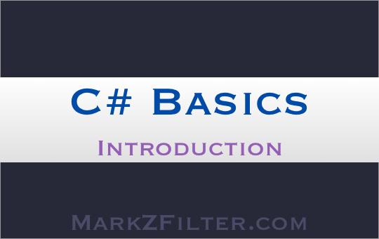 C# Basics Series Introduction to Coding