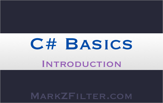 C# Basics Series Introduction to Coding
