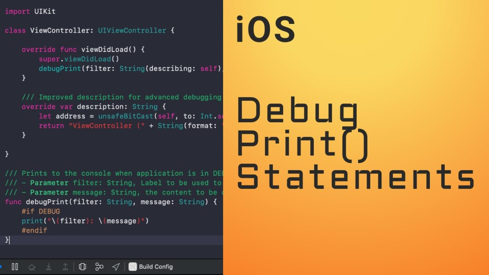 Swift Debug Configuration Print Statements