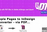 Apple Pages naar InDesign Converter, Markzware PDF2DTP