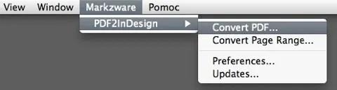 Markzware PDF2DTP for Adobe InDesign
