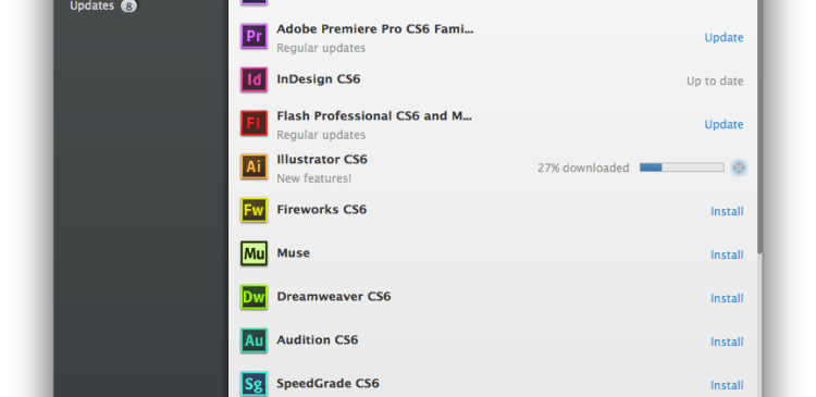 Adobe Application Manager with Adobe InDesign CS6