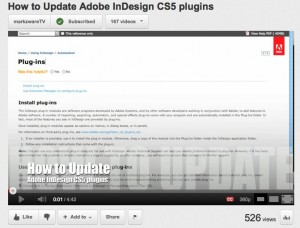 How to Install, Re-Install or Update Adobe InDesign CS5 Plugins