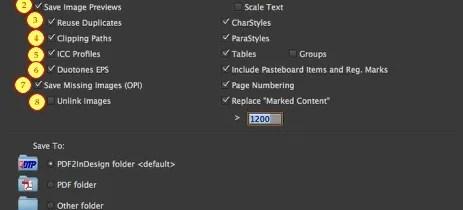 Markzware PDF2DTP pour les paramètres InDesign CC Mac Win document et la police