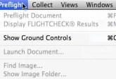 Markzware FlightCheck 7 Mac Accessing Ground Controls