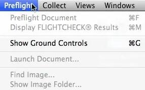FlightCheck Ground Controls to Preflight CC 2018 Print (Check Adobe Photoshop, Illustrator & InDesign