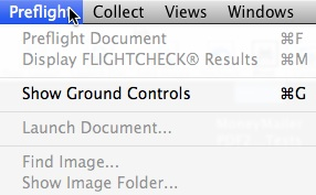 Markzware FlightCheck 7 Mac Accessing Ground Controls
